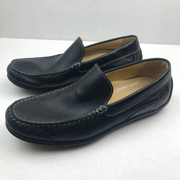 Ecco Men's Classic Leather Slip On Moccasin -9-9.5